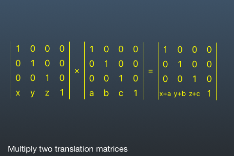 Multiply Translation Matrices