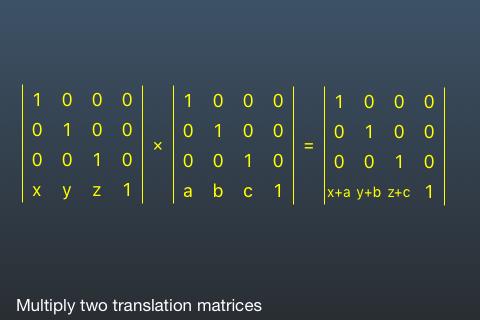 Multiply Translation Matrices